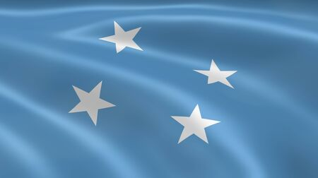 micronesia: Micronesian flag in the wind. Part of a series.