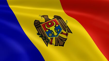 moldovan: Moldovan flag in the wind. Part of a series.