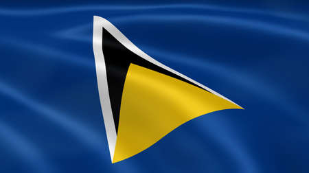 saint lucia: Saint Lucian flag in the wind. Part of a series.
