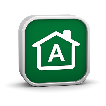 House Sign with A energy performance classification Stock Photo - 11869361