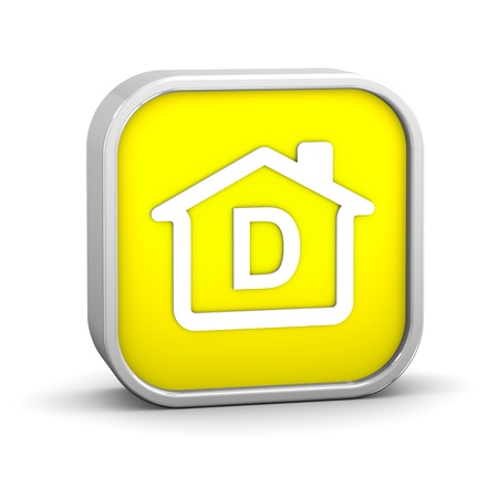 House Sign with D energy performance classification Stock Photo - 11869366