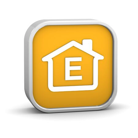 House Sign with E energy performance classification Stock Photo - 11869369