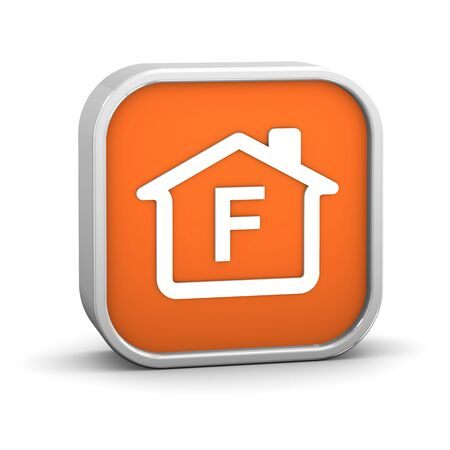 House Sign with F energy performance classification Stock Photo - 11869370