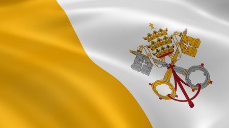 vatican city: Vatican City flag in the wind. Part of a series.