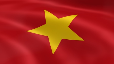 vietnam flag: Vietnamese flag in the wind. Part of a series.