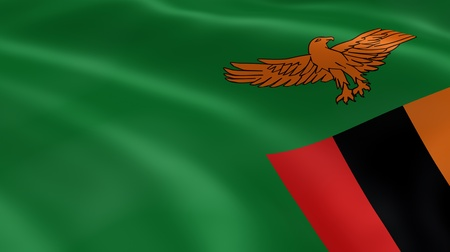 zambian: Zambian flag in the wind. Part of a series.