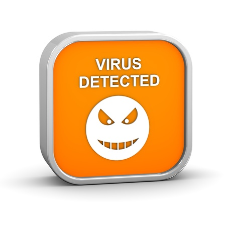 Virus Detected Sign on a white background. Part of a series. Stock Photo