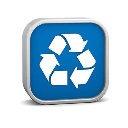 Recycle sign on a white background. Part of a series. Stock Photo - 12145786