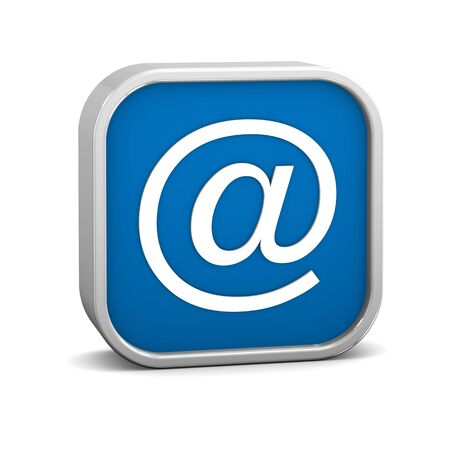 electronic mail: At sign on a white background. Part of a series.
