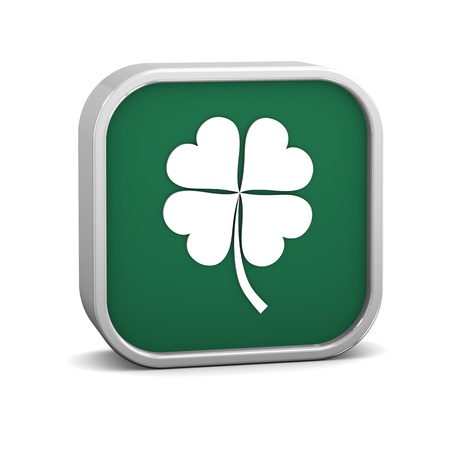 four leaf clover: Four Leaf Clover Sign on a white background. Part of a series. Stock Photo