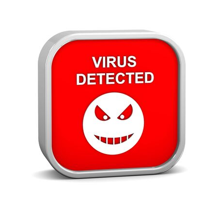 Virus Detected Sign on a white background. Part of a series. photo