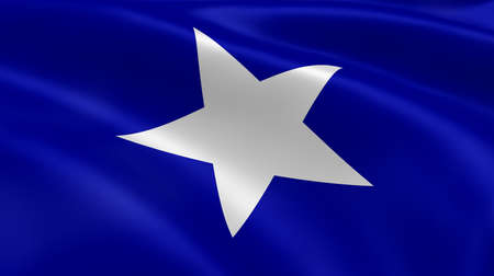bonnie: Bonnie blue flag in the wind  Part of a series  Stock Photo