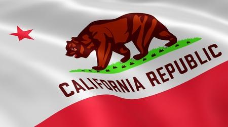 Californian Fahne im Wind Teil einer Reihe Standard-Bild - 13042430