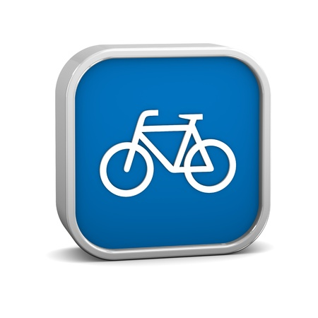 Bicycle sign on a white background. Part of a series. Stock Photo - 13245278