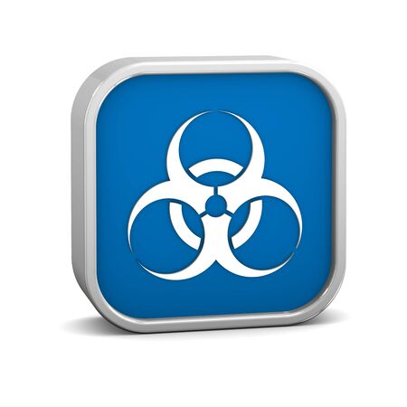 Biohazard sign on a white background. Part of a series. Stock Photo - 13245287