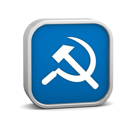 Communism sign on a white background. Part of a series. photo