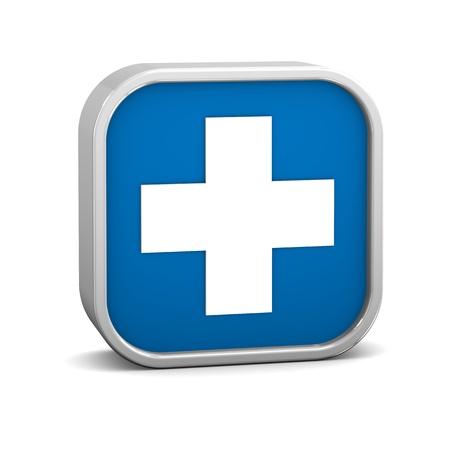 Erste-Hilfe-Zeichen auf weißem Hintergrund Teil einer Reihe Standard-Bild - 13245170