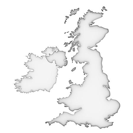 united nations: Reino Unido mapa sobre un fondo blanco. Parte de una serie.