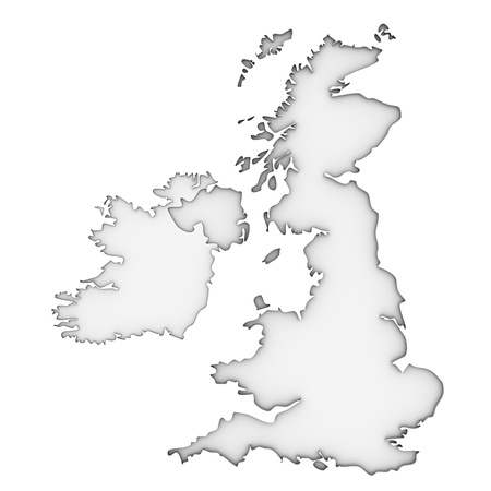 Vereinigtes Königreich Karte auf einem weißen Hintergrund. Teil einer Reihe. Standard-Bild - 13329106
