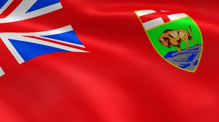 Manitoban Government flag in the wind. Part of a series. photo