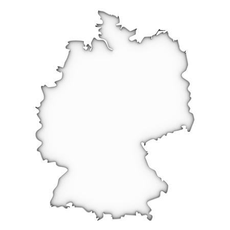 deutschland karte: Deutschland Karte auf einem weißen Hintergrund. Teil einer Reihe.