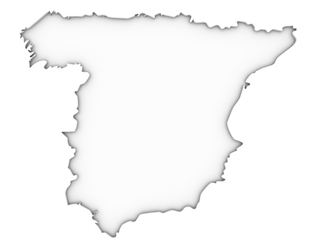 Spain map on a white background. Part of a series. Stock Photo - 13425436