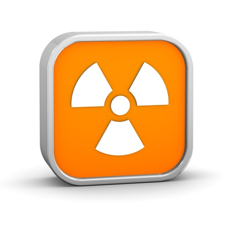 Radiation sign on a white background  Part of a series  Stock Photo - 13541351