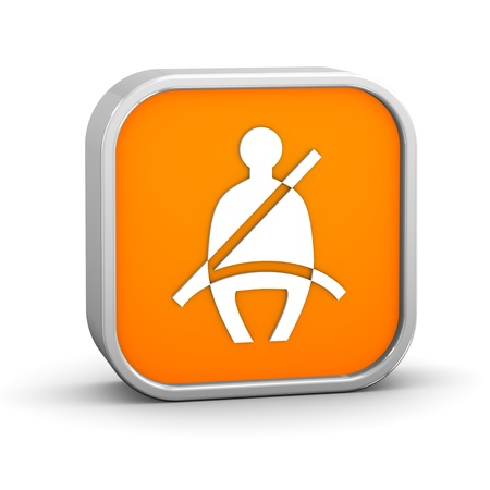 Seat Belt sign on a white background  Part of a series Stock Photo - 13616561
