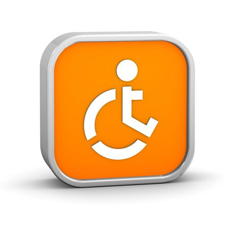 Wheelchair Accessible sign on a white background. Part of a series. photo