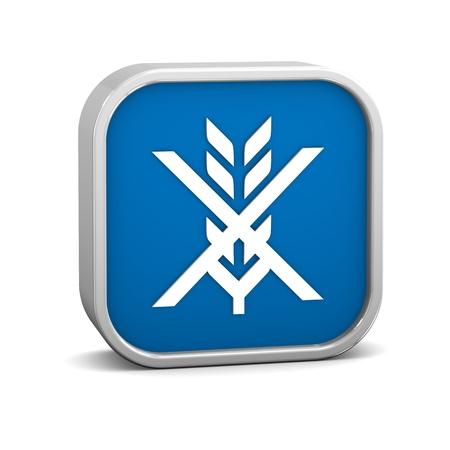 Glutenfreie Zeichen auf weißem Hintergrund. Teil einer Reihe. Standard-Bild - 13631390