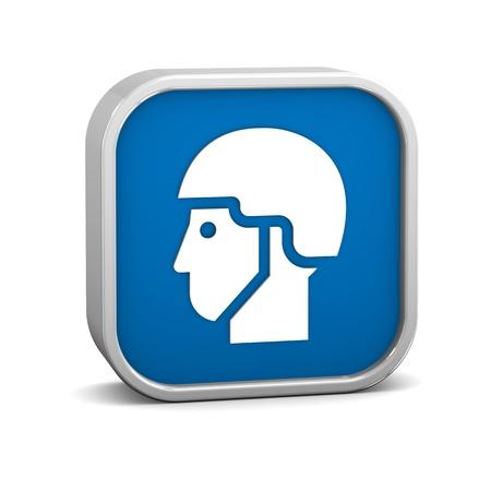 head wear: Casco segno su uno sfondo bianco. Parte di una serie.