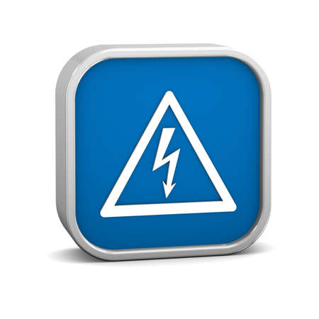 High voltage sign on a white background. Part of a series. photo