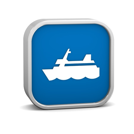 cargo vessel: Ship sign on a white background. Part of a series. Stock Photo