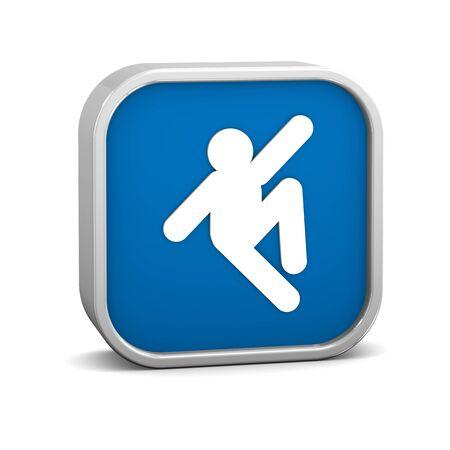 wet floor: Slip Hazard sign on a white background. Part of a series.