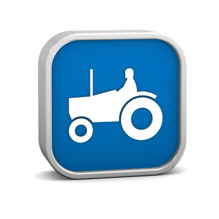 farming sign: Tractor sign on a white background. Part of a series.