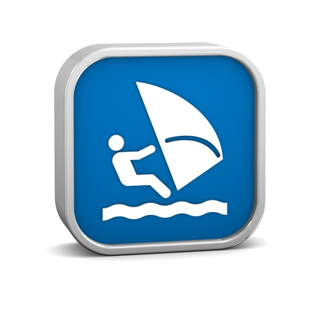 windsurf: Windsurf signo sobre un fondo blanco. Parte de una serie.