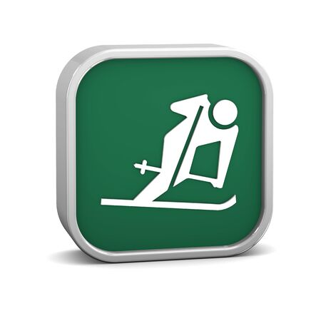 Downhill skiing sign on a white background. Part of a series. Stock Photo - 13701455