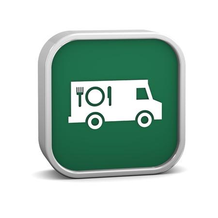 Alimentos signo de camiones sobre un fondo blanco. Parte de una serie. Foto de archivo - 13701315