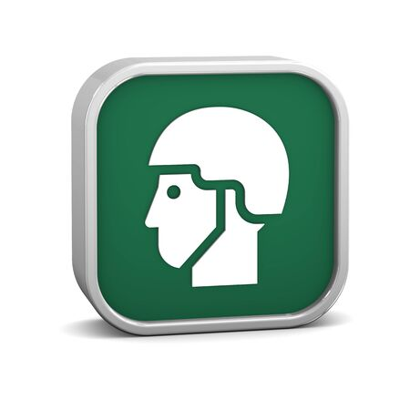 headgear: Helmet sign on a white background. Part of a series.