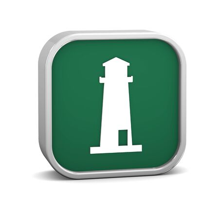 Lighthouse sign on a white background. Part of a series. photo