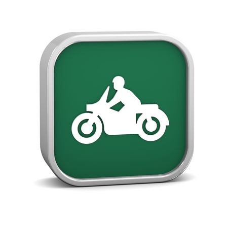 Motorcycle sign on a white background. Part of a series. photo
