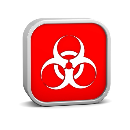 toxic waste: Biohazard sign on a white background. Part of a series. Stock Photo