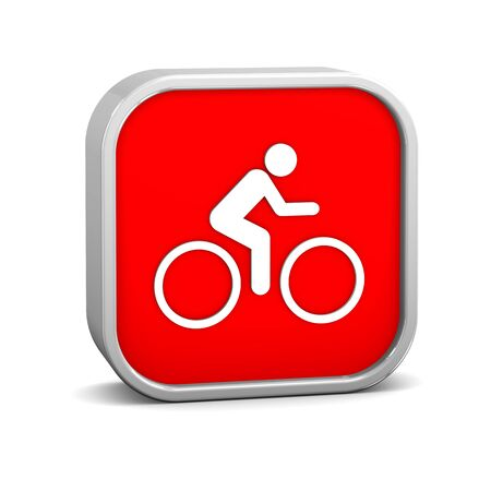 Cycling sign on a white background. Part of a series. Stock Photo - 13835846