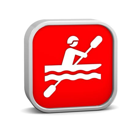 Kayak sign on a white background. Part of a series. photo