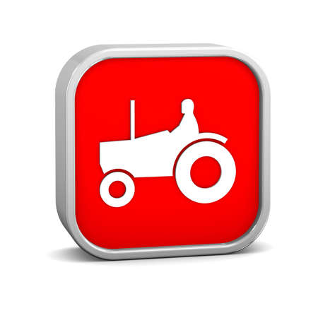 tractor sign: Tractor sign on a white background  Part of a series