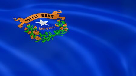 nevada: Nevadan flag in the wind. Part of a series. Stock Photo