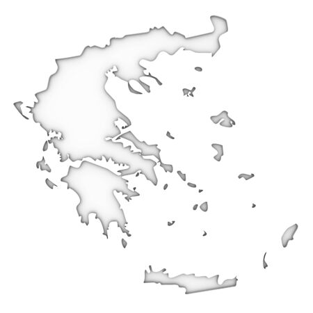Greece map on a white background. Part of a series. photo