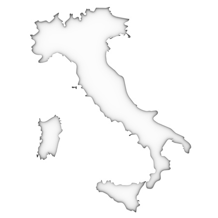 Italy map on a white background. Part of a series. photo