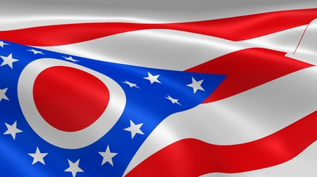 ohio: Ohioan flag in the wind. Part of a series.