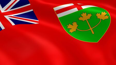 barrie: Ontarian flag in the wind. Part of a series.